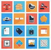 Flat  Business And Office Icons With Long Shadow,  Seo Website, Web And Mobile Apps