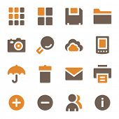 Photo collection web icons set