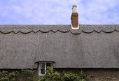 Thatched Roof Of An English Cottage