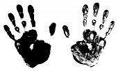 Two Black Art Hand Prints