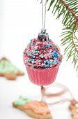 Christmas retro tree cupcake toy