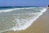 Calm Mediterranean Sea Beach, Israel