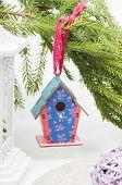 Christmas toy birdhouses