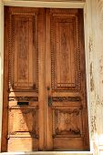 Beautiful detail of old front doors