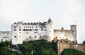 View of the historic city of Salzburg with Hohensalzburg Fortress, Salzburger Land, Austria