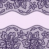 Vintage fashion lace ornament background with flowers.