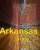 Arkansas State Background Concept Glowing