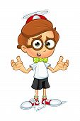 Cartoon Nerd Boy Character