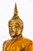 Iamage Of Buddha With Gold Leaf.