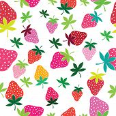 Seamless Vector Strawberry Pattern
