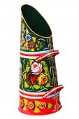 stock photo of coal barge  - A Brightly Decorated Traditional Bargeware Coal Scuttle - JPG