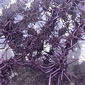 Bizarre Background Purple Garlands