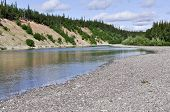 River Valley In The Polar Urals.