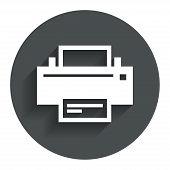 Print sign icon. Printing symbol.