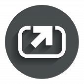 Action sign icon. Share symbol.