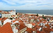Historical Alfama district at Lisbon, Portugal