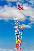 Flags On Flagpole