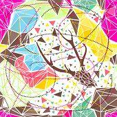 Skull with poligonal ornament. Vector illustration