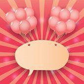 Balloon Starburst Background