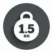 Постер, плакат: Weight sign icon 1 5 kilogram kg Mail weight