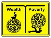 image of gap  - Concept sign of social and economic inequity and the worldwide wealth gap - JPG