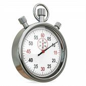 stock photo of stopwatch  - 3d Stopwatch time concept isolated on a white background - JPG