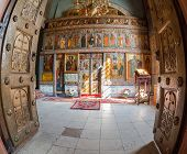 Novgorod, Russia - July 23, 2014: Interior Of The St. Sophia Cathedral In Veliky Novgorod, Russia. S