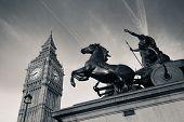Queen Bodica statue in Westminster in London.
