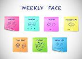 Weekly calendar stickers