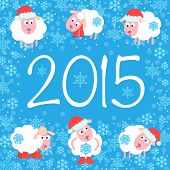 Cute card for Christmas and New Year