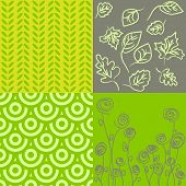 Patterns In Grey And Green