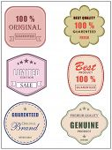 Best and premium quality retro label, tag or sticker set for best limited edition products and guara