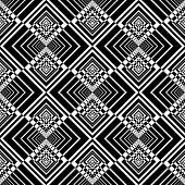 Seamless geometric checked pattern. Vector art.
