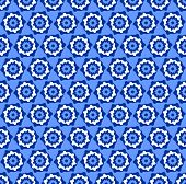 Seamless hexagons blue pattern. Vector art.