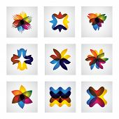 stock photo of six-petaled  - abstract floral or flower element design vector icons - JPG
