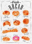 Bread products poster