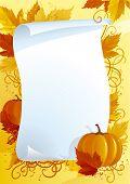 Autumn blank for thanksgiving