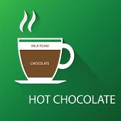 Type of hot chocolate. Vector illustration