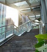 pedestrian bridges stairs