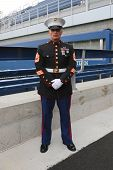 United States Marine officer at Billie Jean King National Tennis Center during US Open 2014