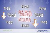 Sales grafi art, percentage
