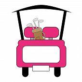 Pink Golf Cart