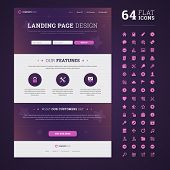 One Page Design Landing Page.