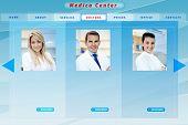 Blue medical business website template