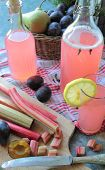 Autumn juice with rhubarb