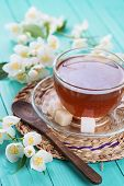 Cup Of Fresh Herbal Tea With Jasmine