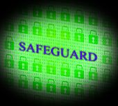 stock photo of safeguard  - Locked Safeguard Representing Encryption Padlock And Private - JPG
