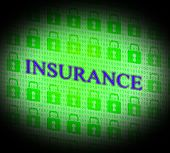 Insurance Online Represents World Wide Web And Searching