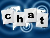 Chat Chatting Indicates Type Typing And Communication