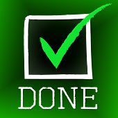 Done Tick Represents Pass Passed And Yes